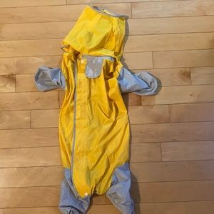 Yellow rain coat for dogs XL unlined
